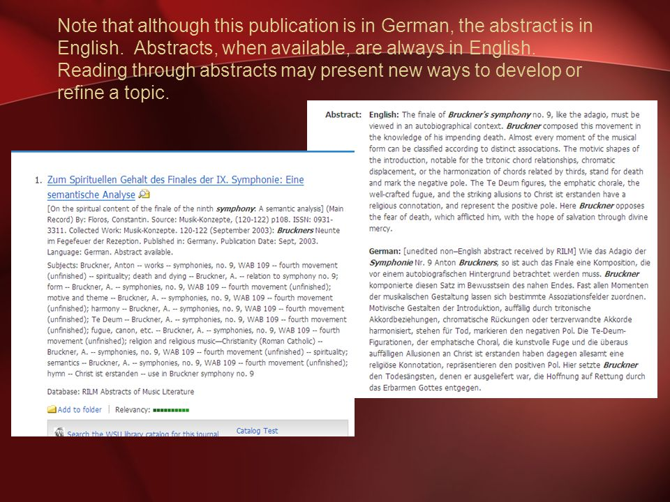 Note that although this publication is in German, the abstract is in English.