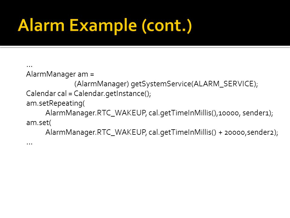 Notifications & Alarms   Notifications  Alarms  - ppt download