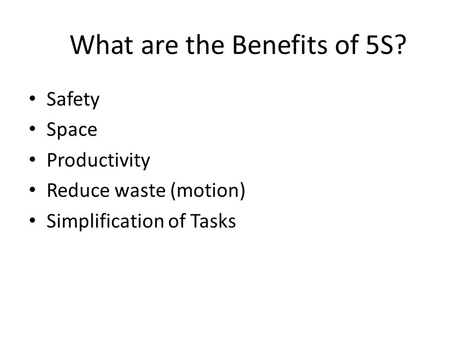 5S A guide to understanding and developing 5S in the