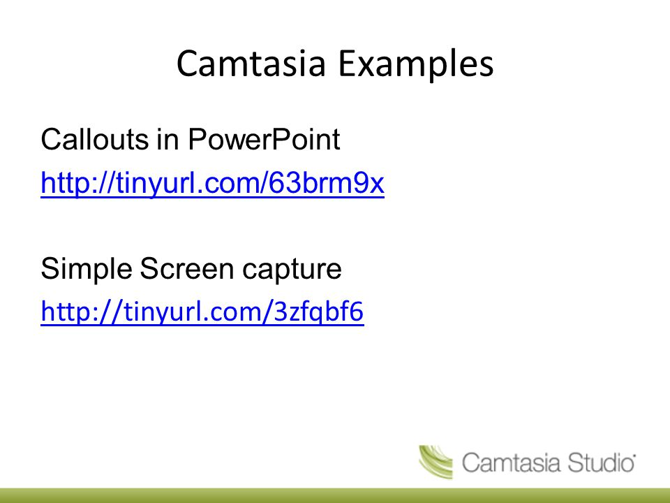 Camtasia Examples Callouts in PowerPoint   Simple Screen capture
