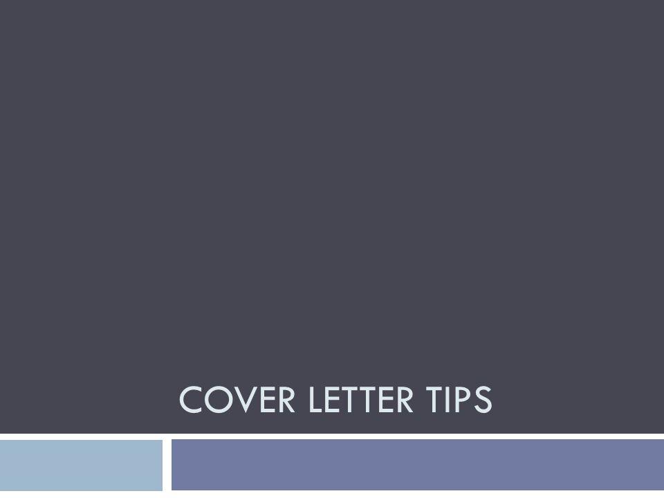 1 cover letter tips
