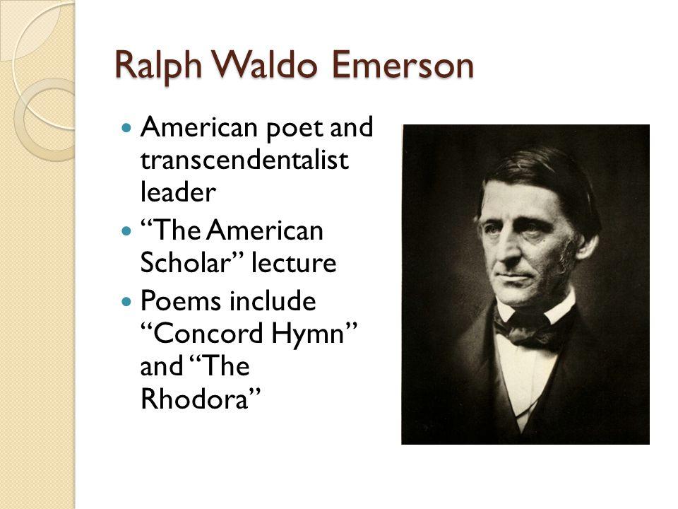 the american scholar emerson theme