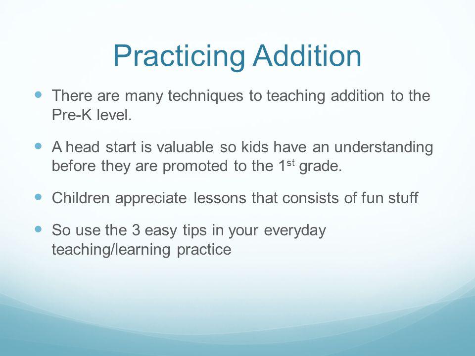 Pre-K Addition Practice By: Brendon Lavender  Starting