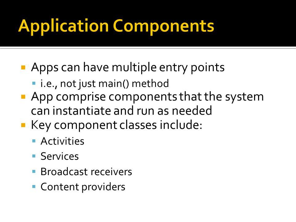 application fundamentals see developer android com guide rh slideplayer com Android Developer Guide.pdf oracle 11g application developer's guide fundamentals