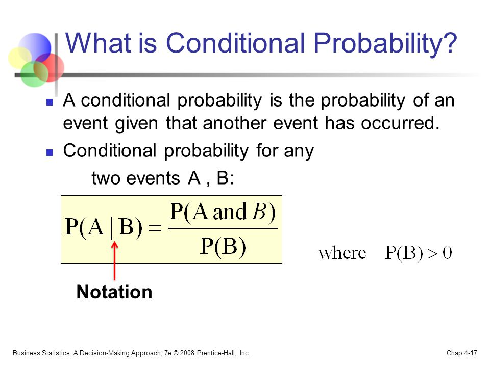 What is Conditional Probability.