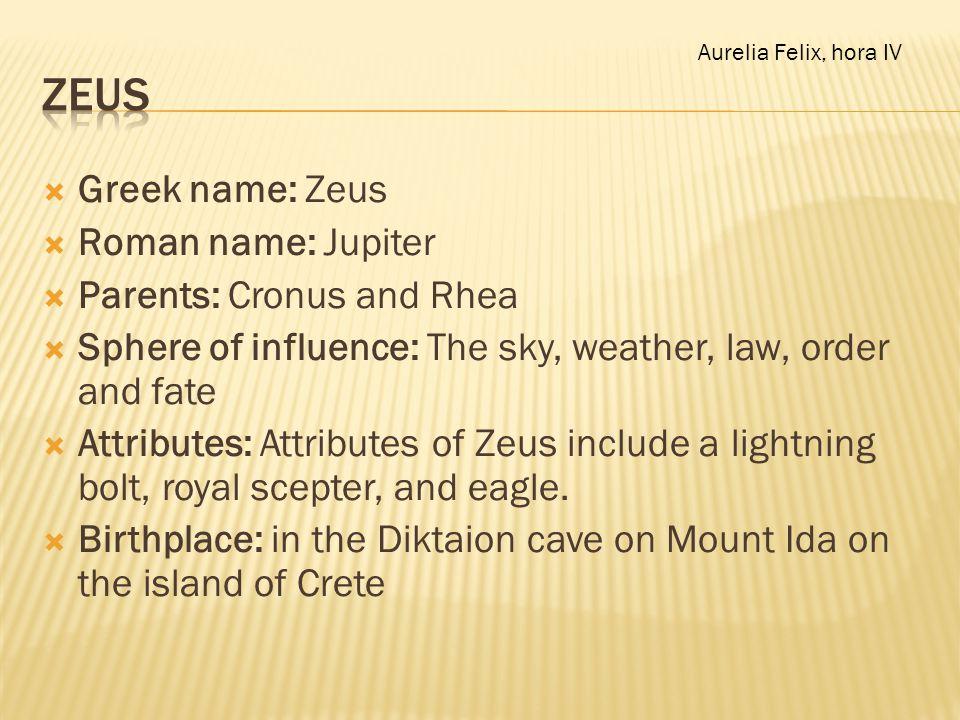 what is zeus roman name