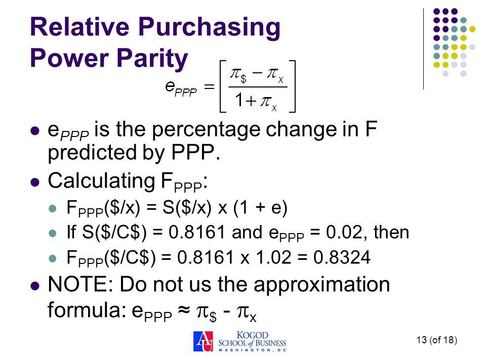 1 (of 18) ibus 302: international finance topic 8–purchasing power.