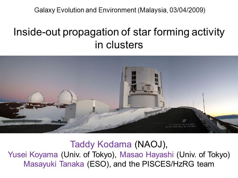 Galaxy Evolution and Environment (Malaysia, 03/04/2009
