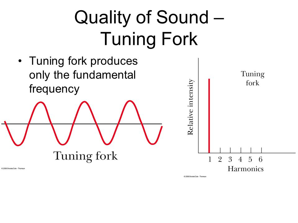 Quality of Sound – Tuning Fork Tuning fork produces only the fundamental frequency