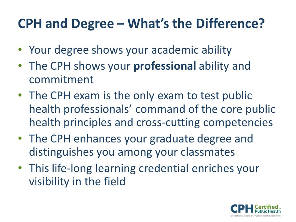 CPH and Degree – What's the Difference.