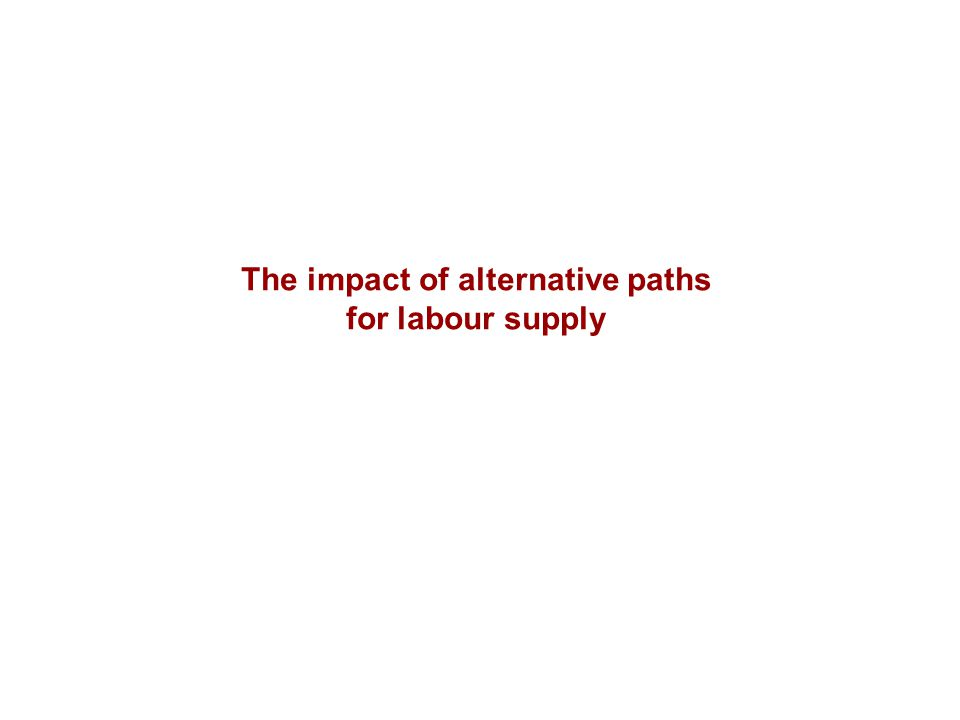 The impact of alternative paths for labour supply