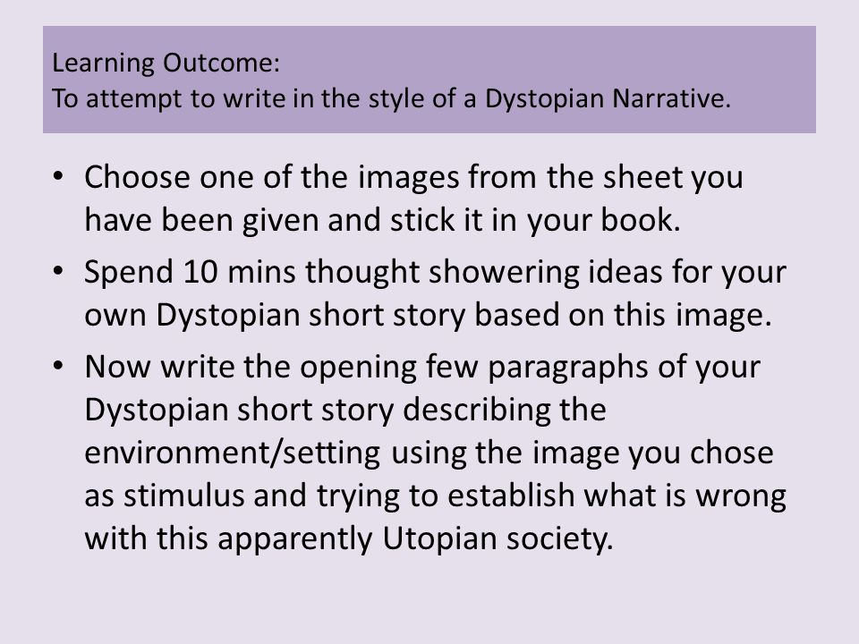 how to write a dystopian short story