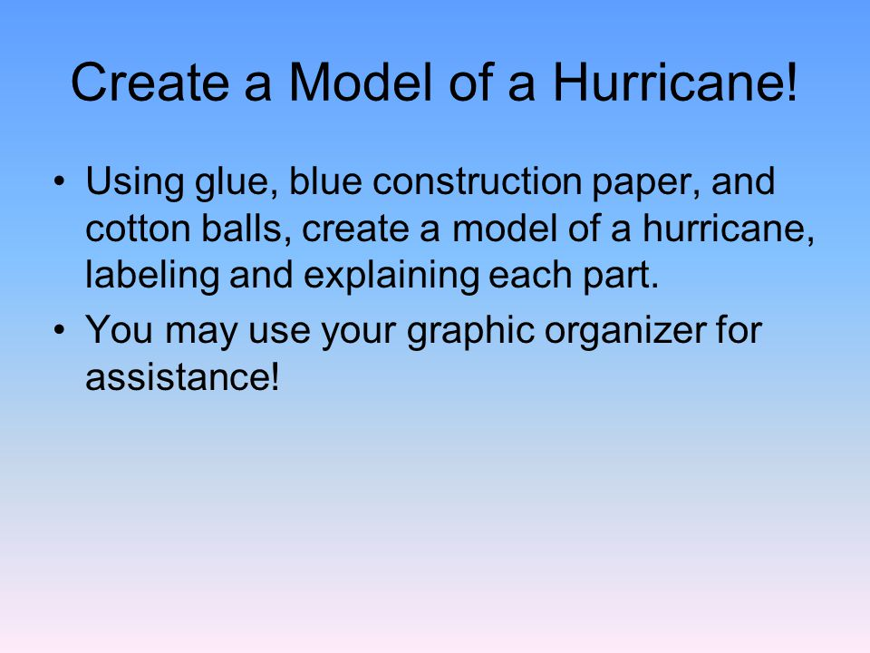 Create A Model Of Hurricane