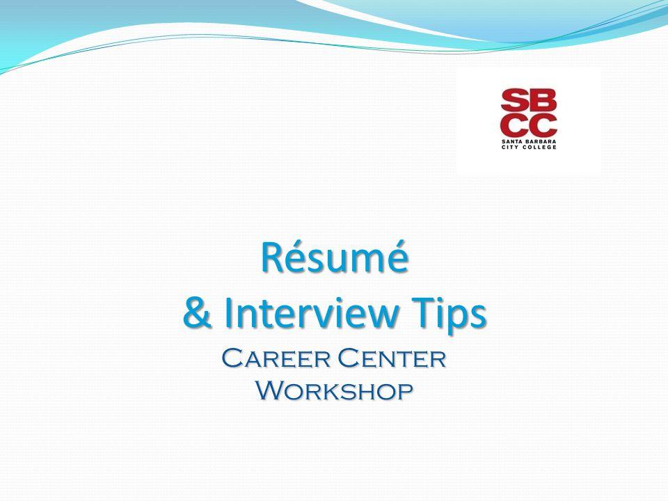 1 rsum interview tips