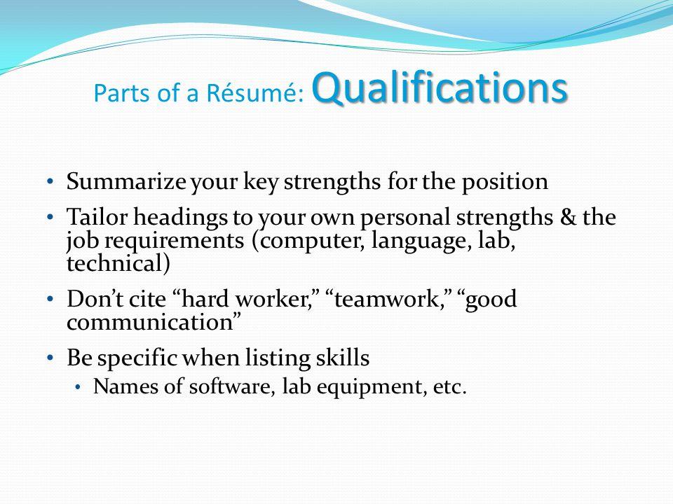 résumé interview tips career center workshop résumé purpose to
