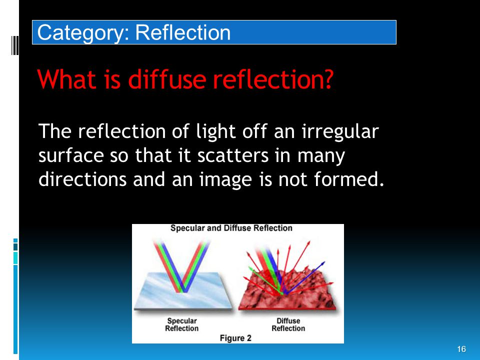 What is diffuse reflection.