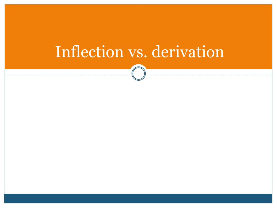Inflection vs. derivation