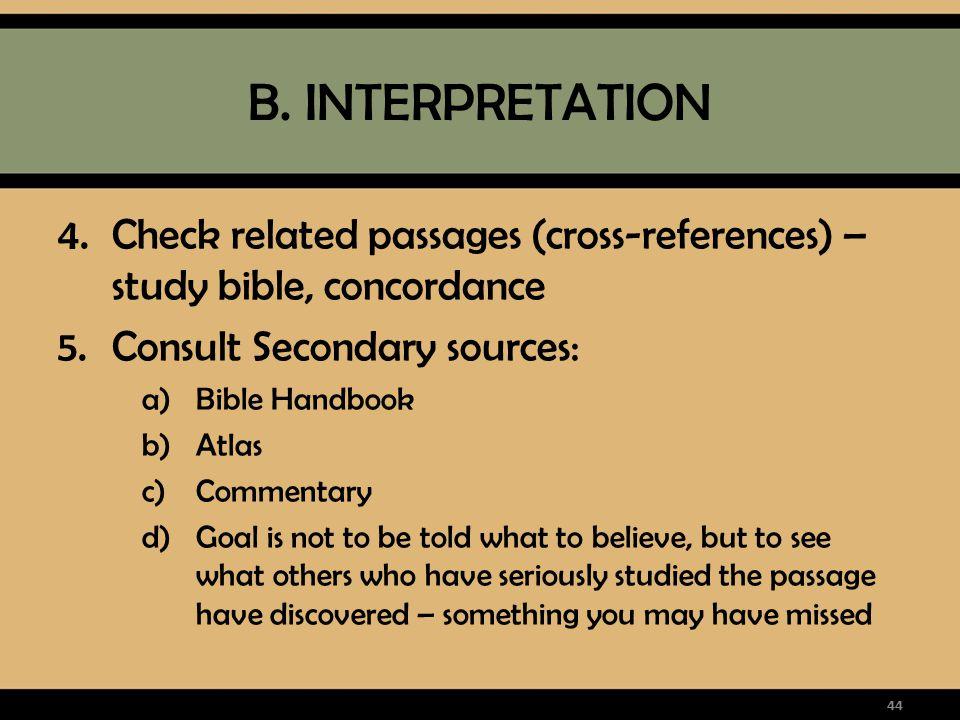 Introduction to Bible Interpretation & Bible Study Methods