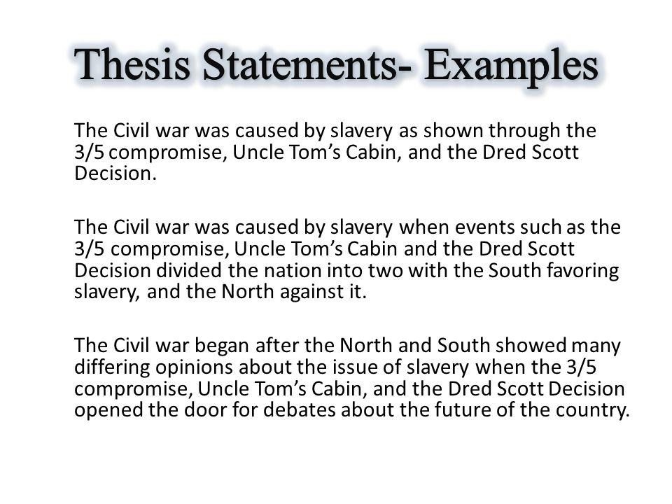 Civil war thesis statement examples resume yes db2 load