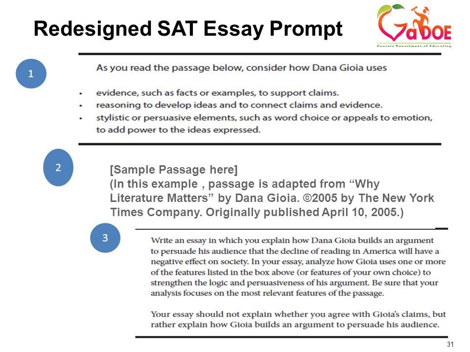 literature example for sat essay
