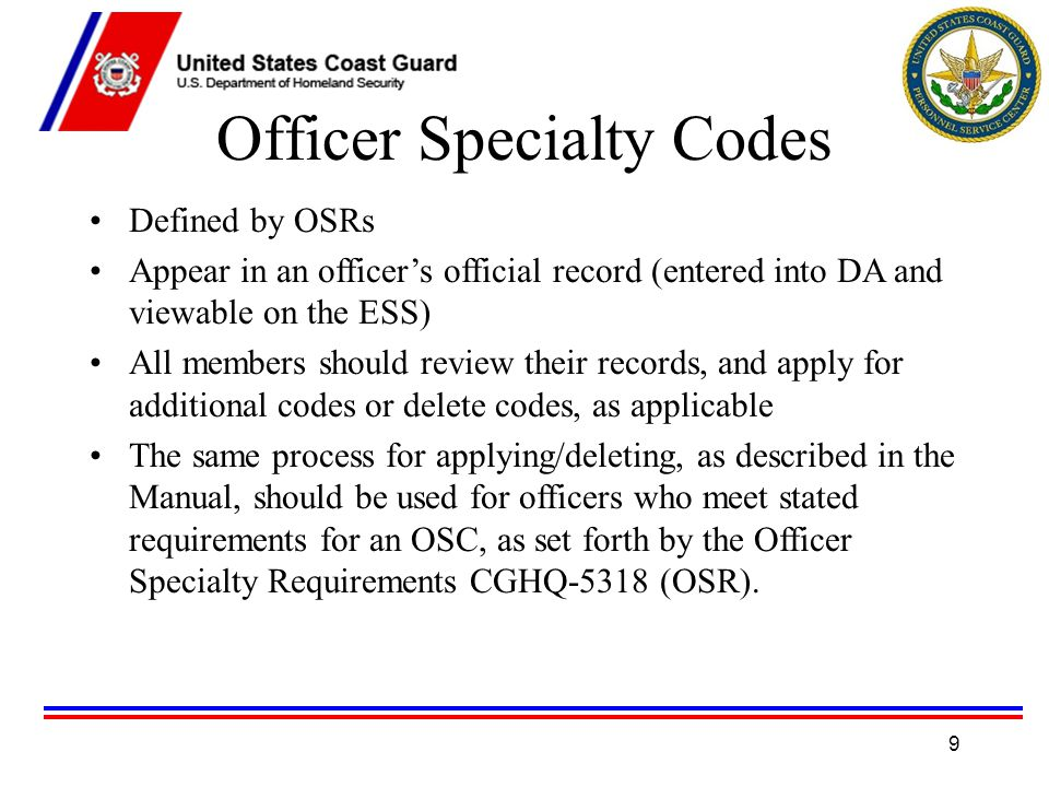 Officer Specialty Management System 1  OSMS Acronyms OSMS