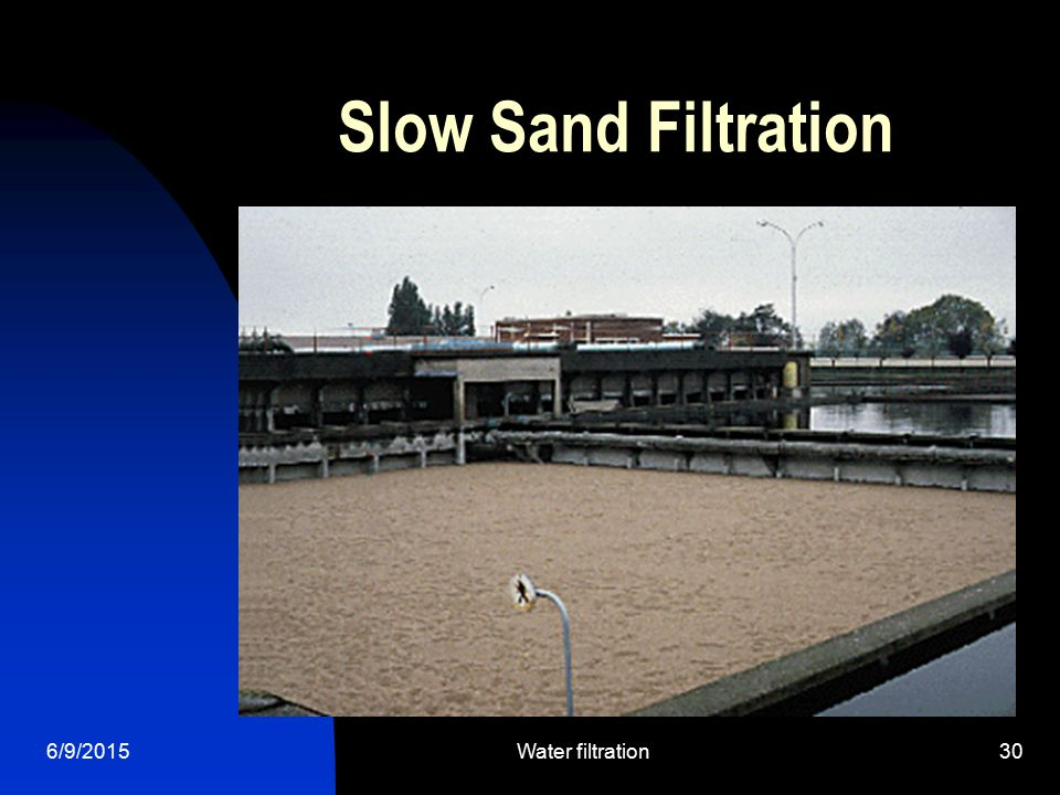 6/9/2015Water filtration30 Slow Sand Filtration