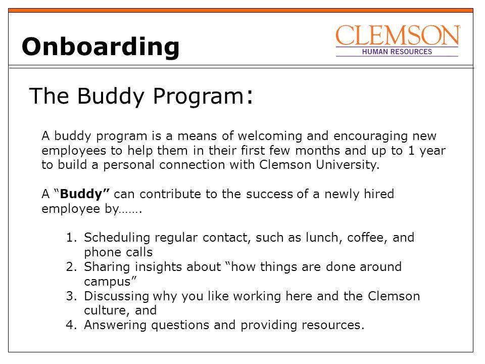 facilities pilot buddy program 2020 goals attract retain reward rh slideplayer com New Employee Forms New Employee Onboarding Checklist