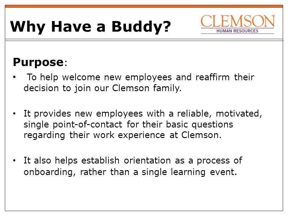 facilities pilot buddy program 2020 goals attract retain reward rh slideplayer com New Employee Orientation New Employee Onboarding Checklist