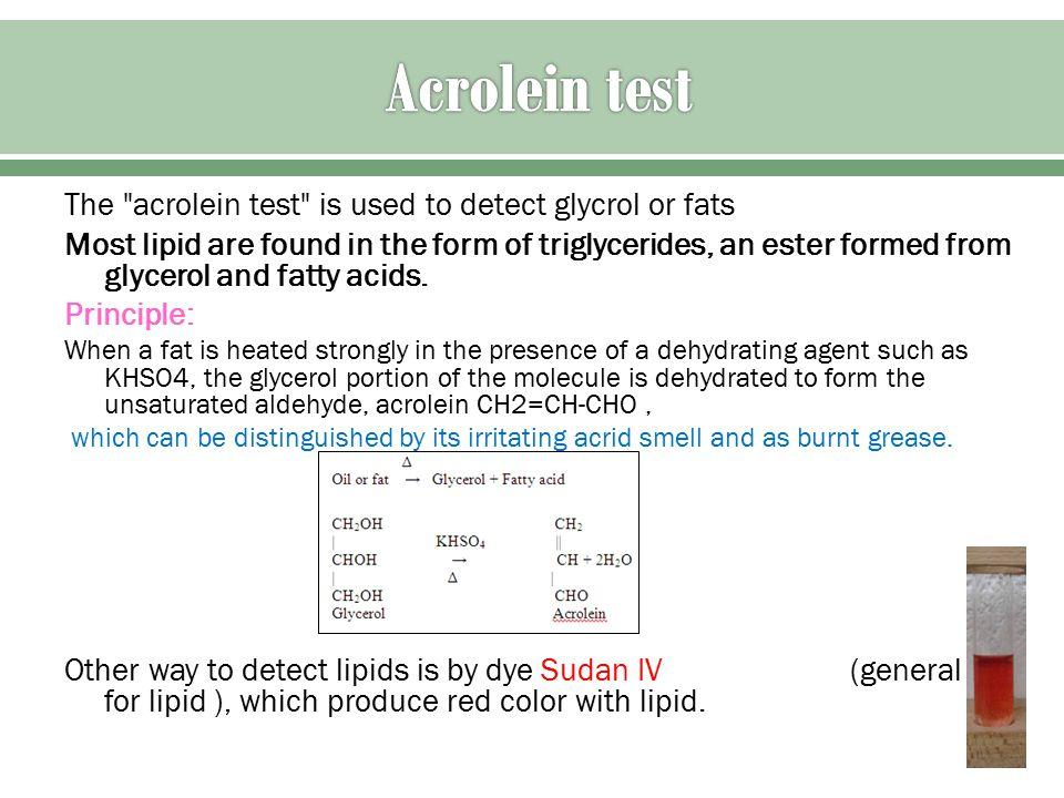 acrolein test for lipids