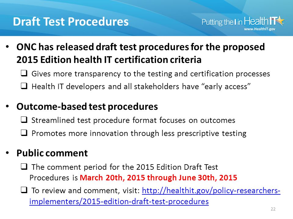 2015 Edition Proposed Rule Modifications to the ONC Health IT ...