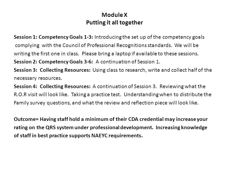 cda competency goal 3 self