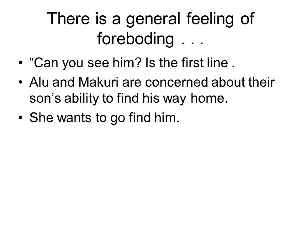 feeling of foreboding