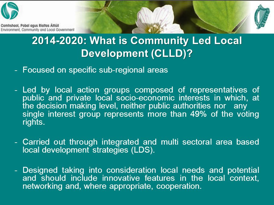 : What is Community Led Local Development (CLLD).