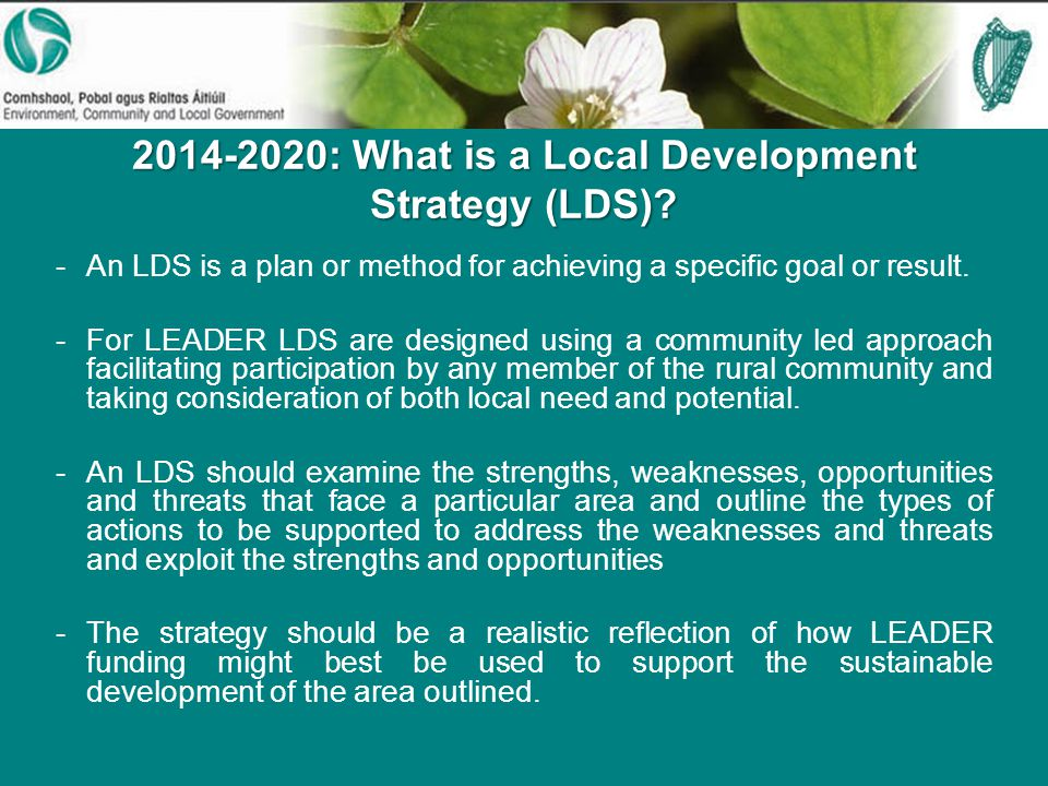 : What is a Local Development Strategy (LDS).