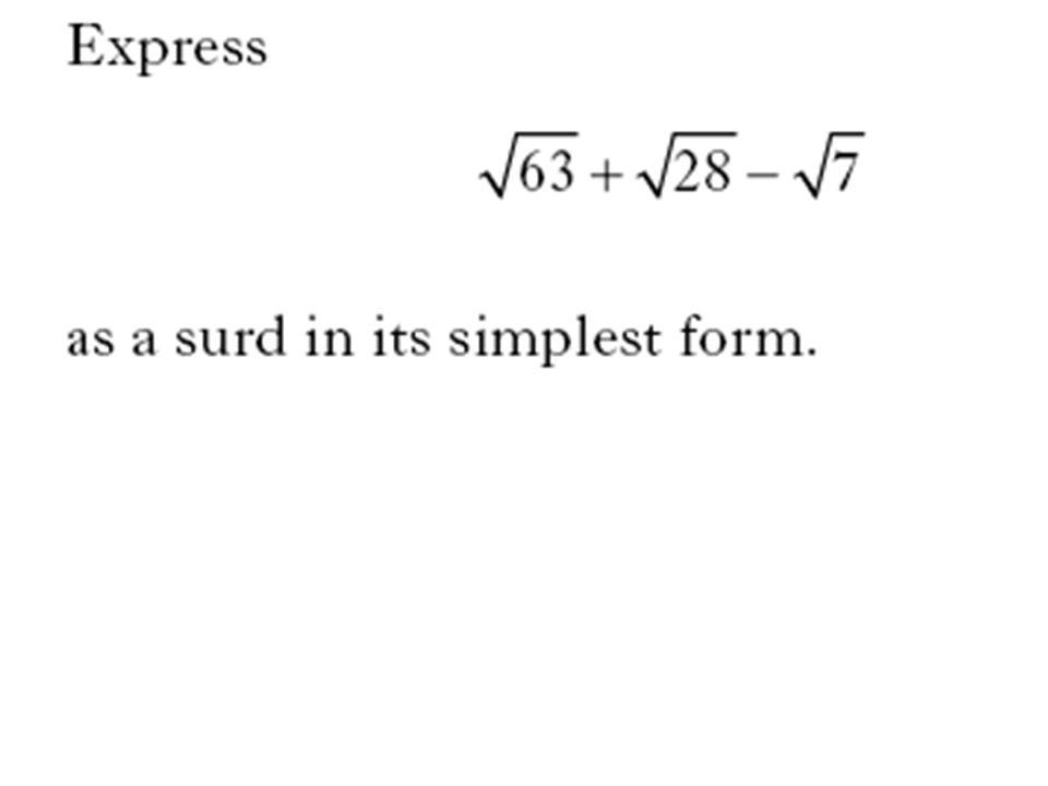 simplest surd form  Surds & Indices What is a surd ? - ppt video online download