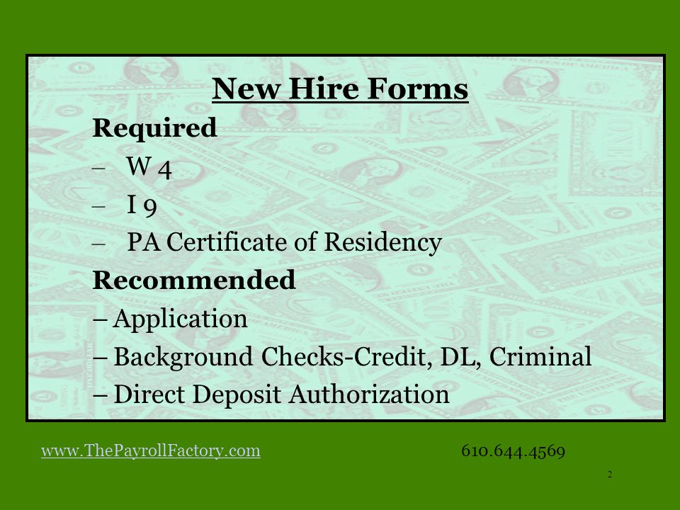 1 THE PAYROLL FACTORY ppt download