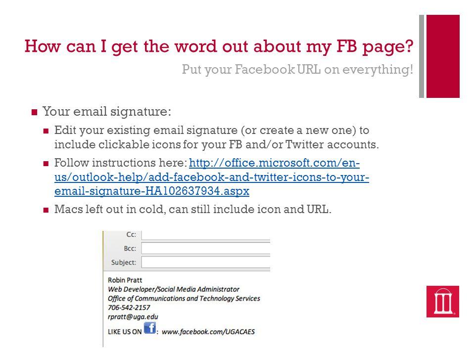 Promoting Facebook & Measuring Success Robin Pratt  - ppt