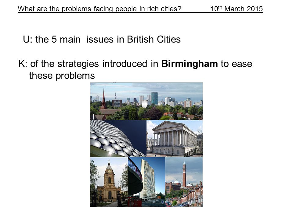 What are the problems facing people in rich cities.