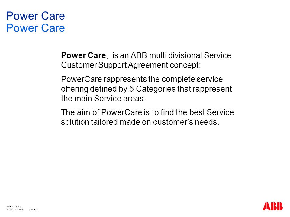 Power Care Customer Support Agreement For Low Voltage Products And
