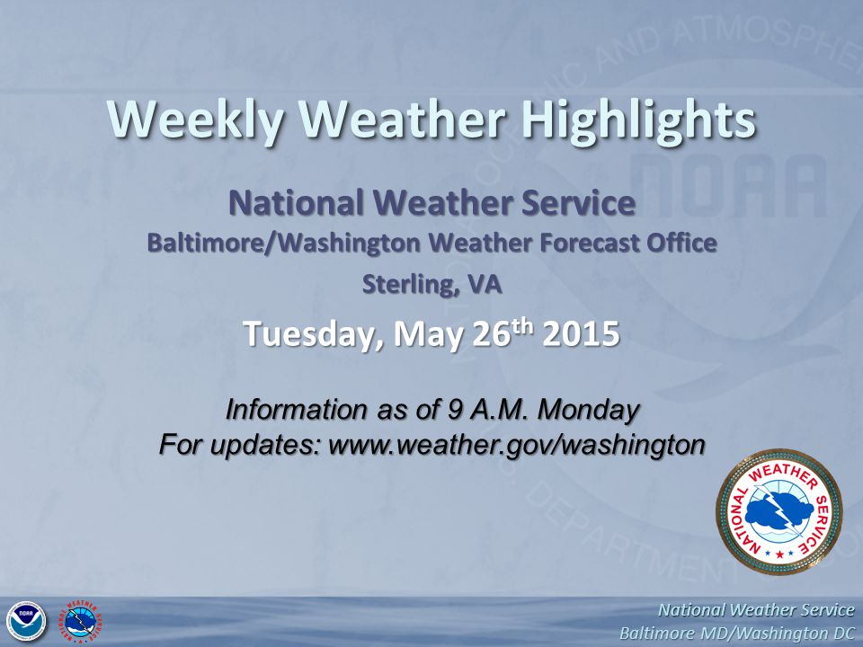 National Weather Service Baltimore MD/Washington DC National