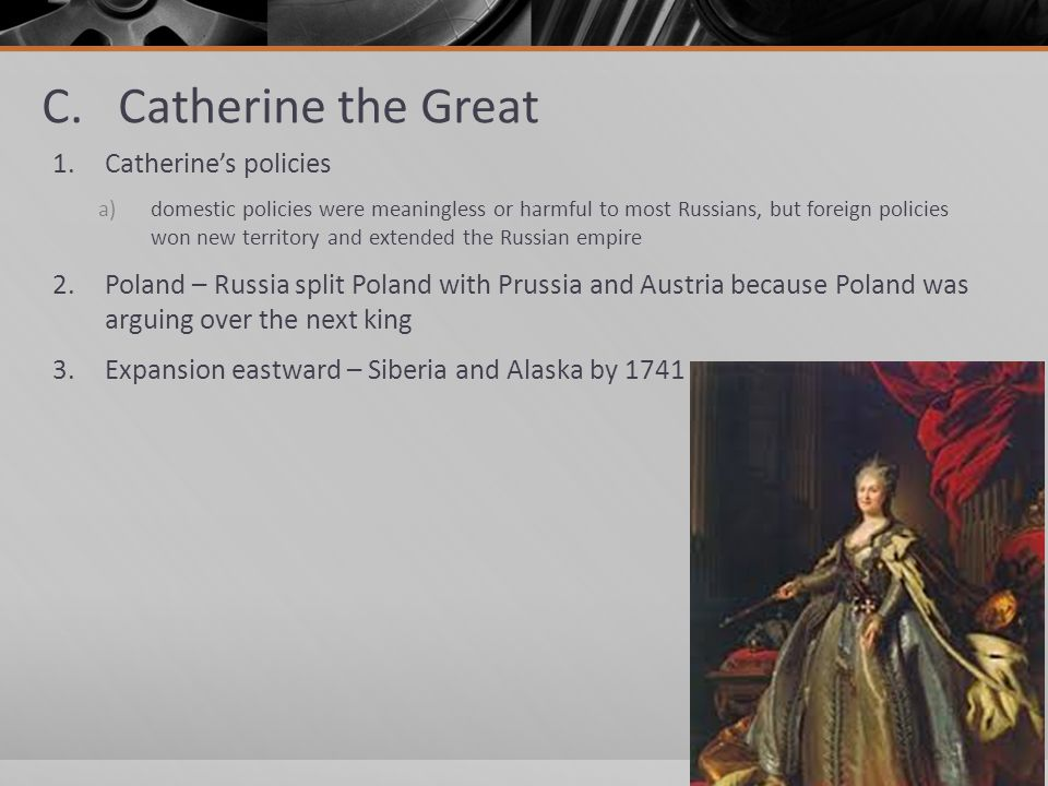 catherine the great domestic policy