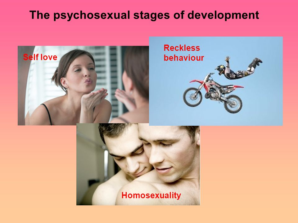 Self love Homosexuality Reckless behaviour The psychosexual stages of development