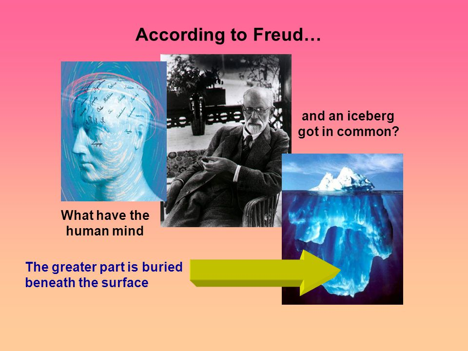 According to Freud… What have the human mind and an iceberg got in common.
