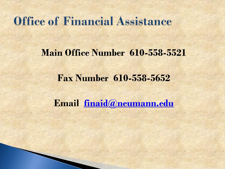 Main Office Number Fax Number