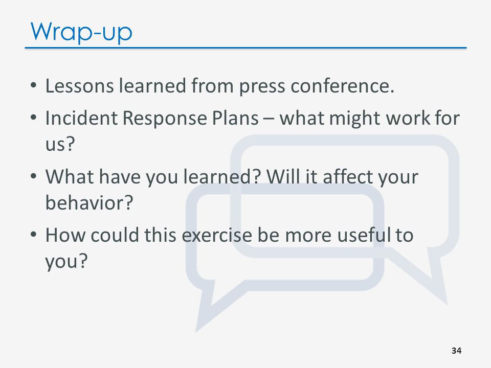 Unveil Your Response Plan Take us through your response plan.