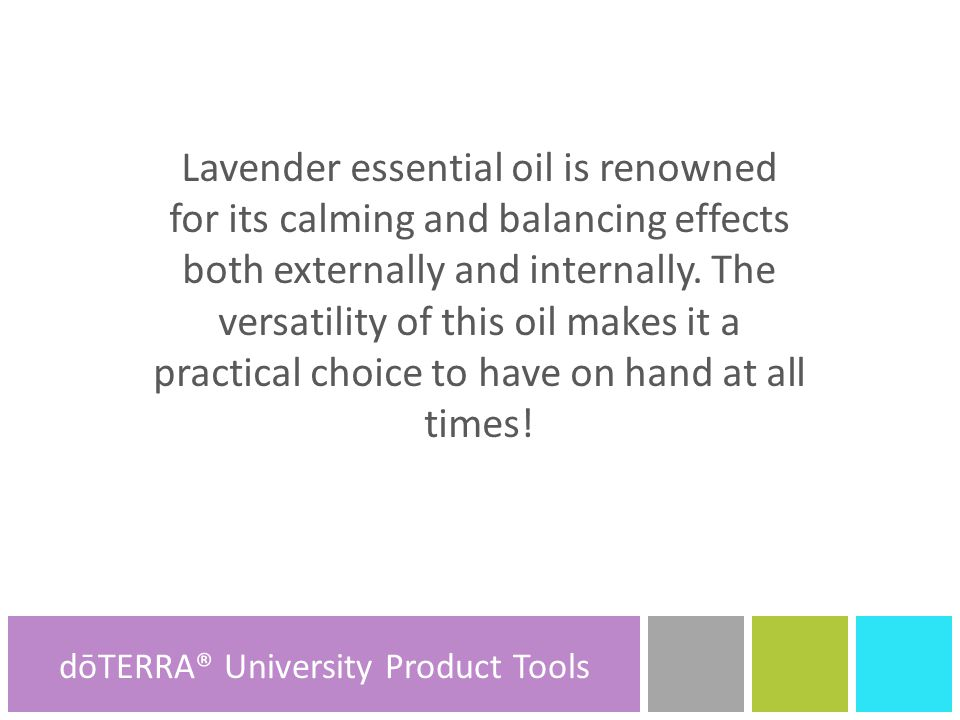 Lavender essential oil is renowned for its calming and balancing effects both externally and internally.