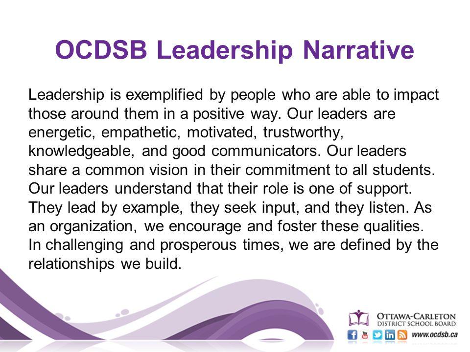 leadership narrative example