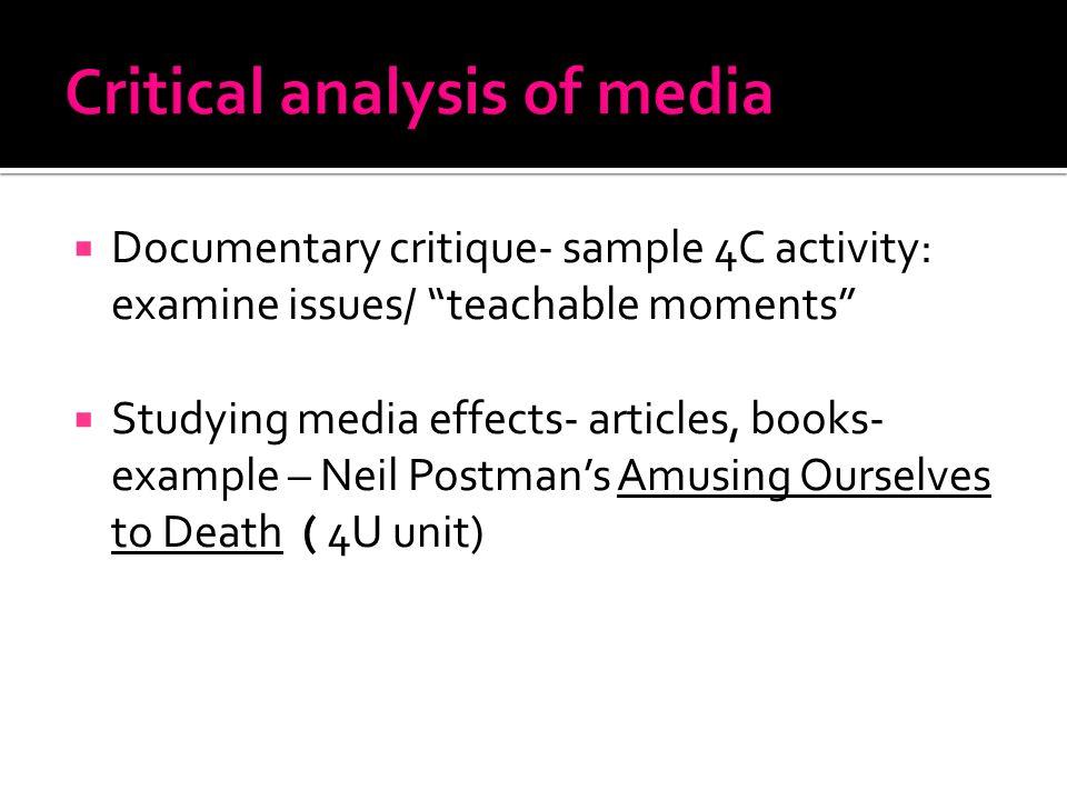 documentary critique sample