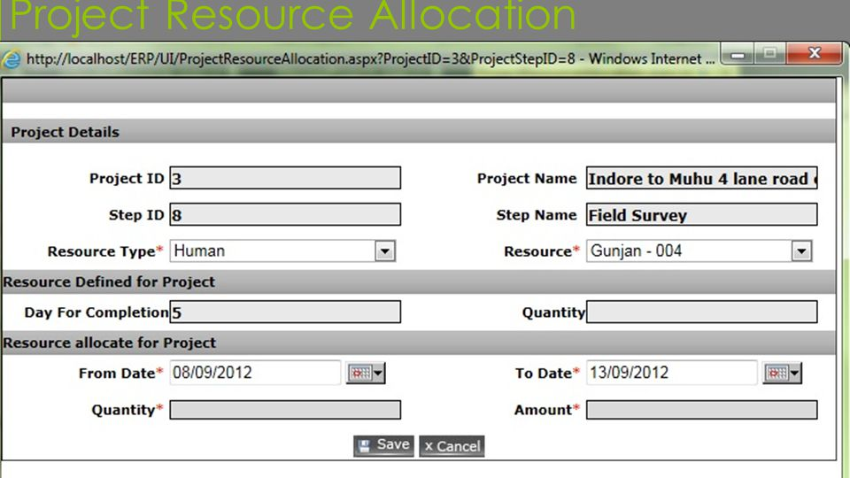 Project Resource Allocation