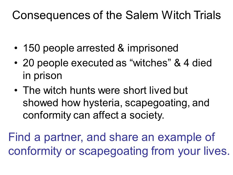 What is this a picture of?  The Salem Witch Trials (1692-3